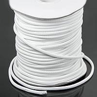 Шнур Вощеный Полиэстер, подходит для плетения браслетов, Цвет: Белый, Размер: Толщина 3мм, около 40м/катушка (УТ100009641)