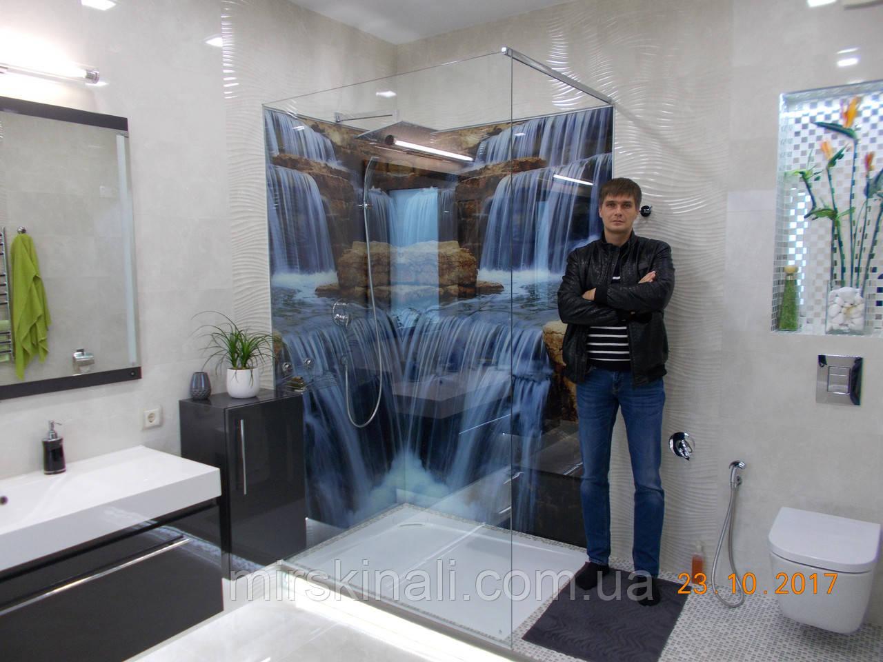 """Фото панно """"Водоспад"""" в душову кабіну(підсумок моєї роботи)"""