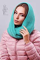 Вязаный шарф Снуд-2 из смесовой пряжи шерсть-акрил