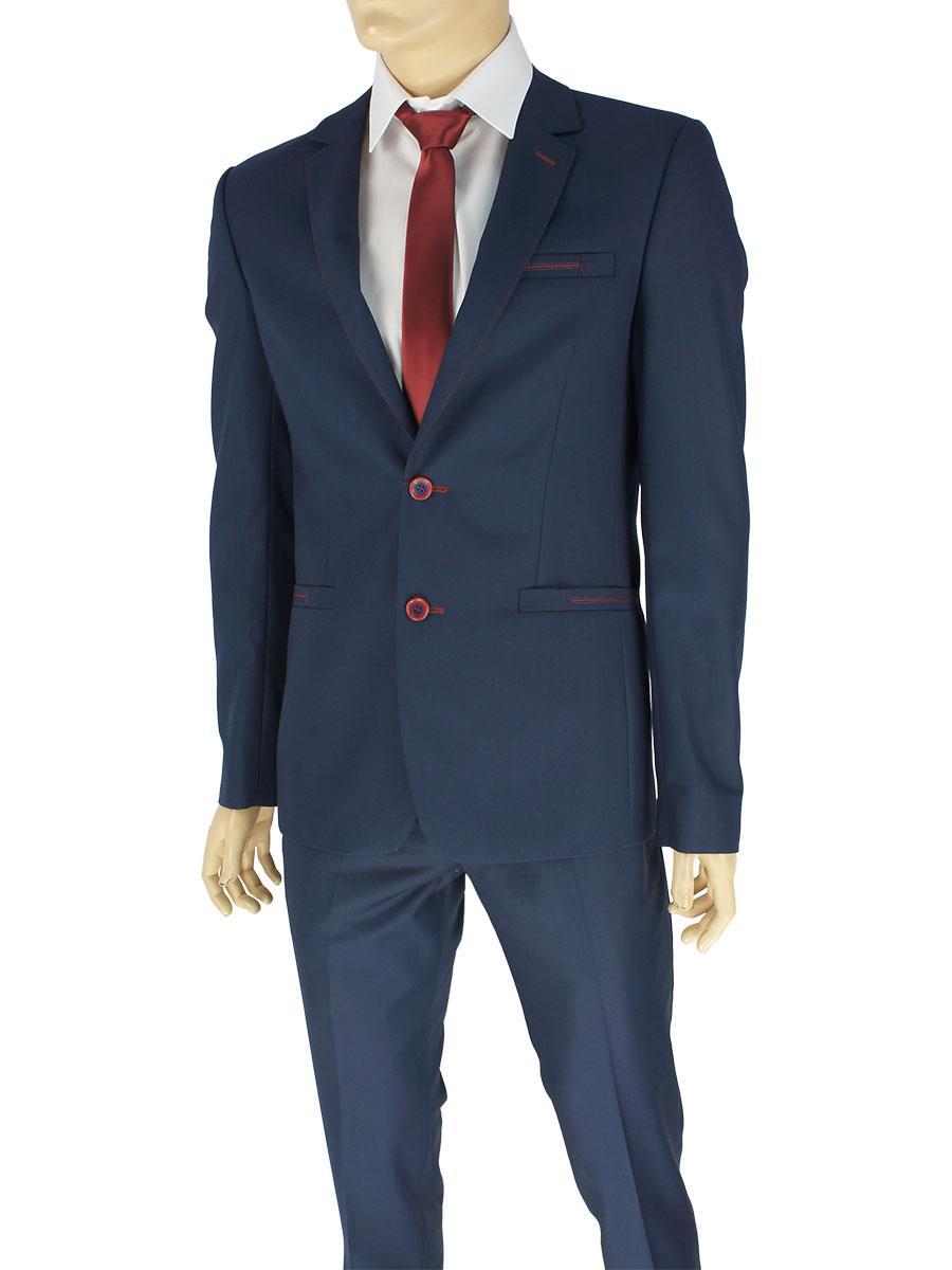 Мужской классический костюм Legenda Class 24#19 C.8 в темно-синем цвете