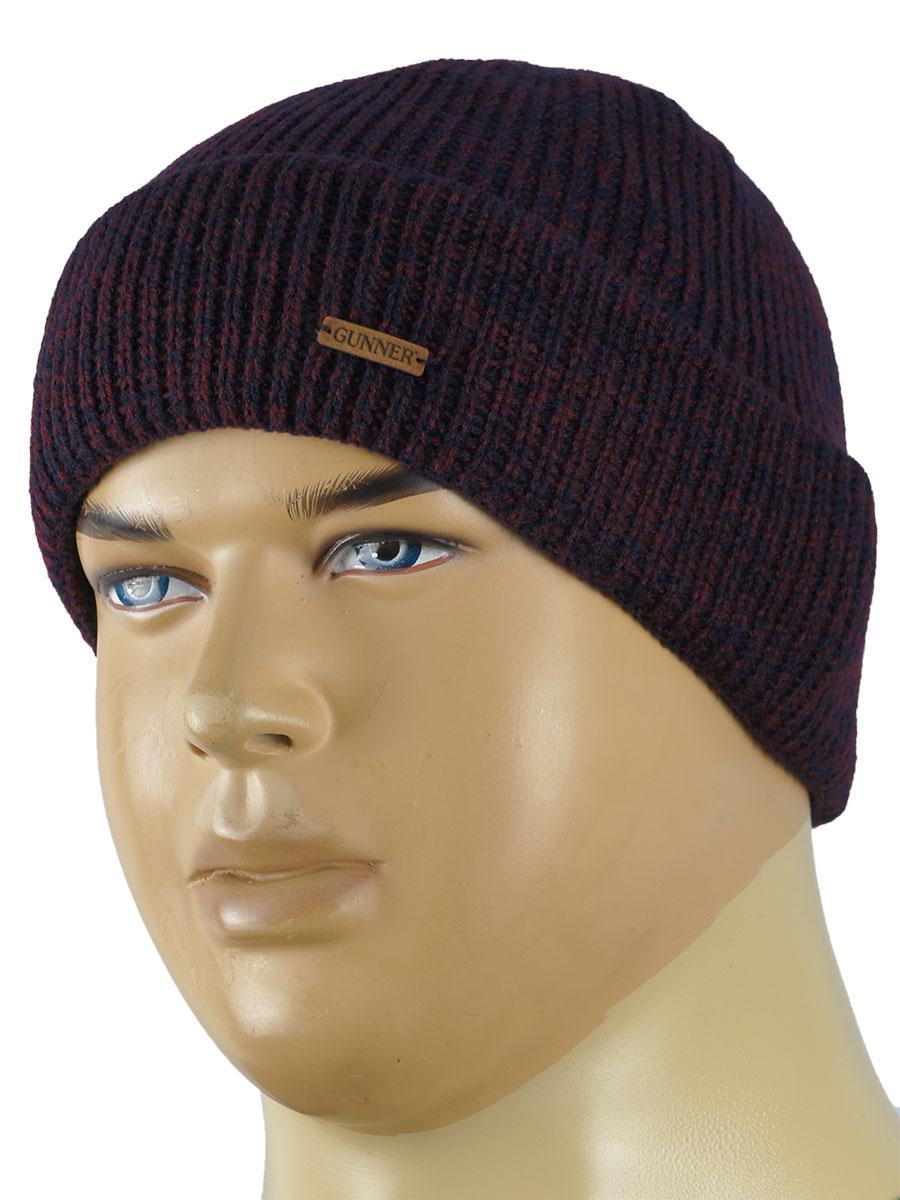 Вязаная мужская шапка Gunner 0135 разных цветов