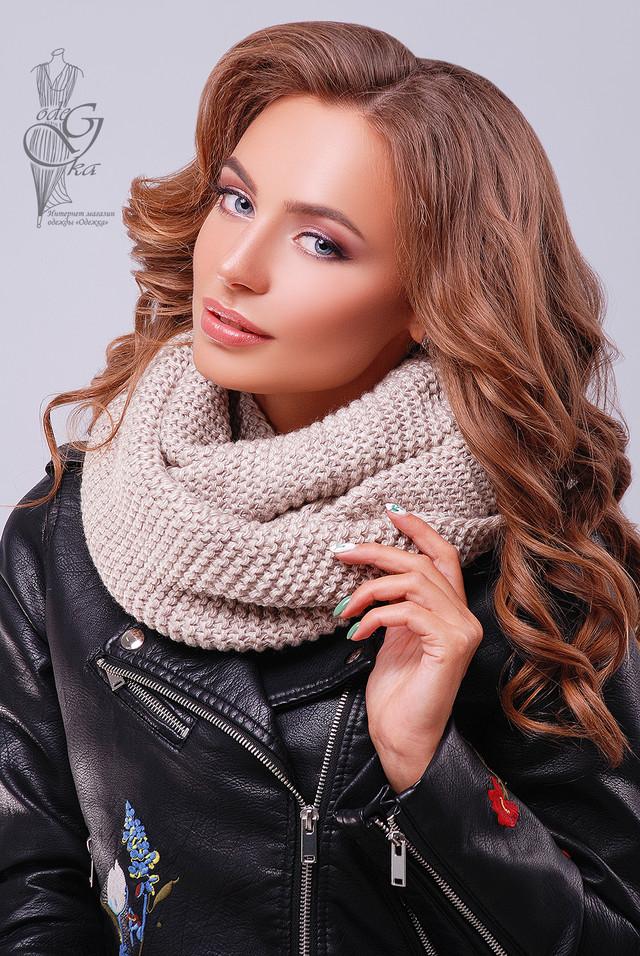 Фото Вязаного шарфа Снуд-3