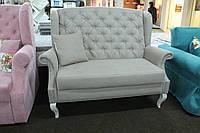 Мягкий кухонный диванчик в стиле прованс (Серый)