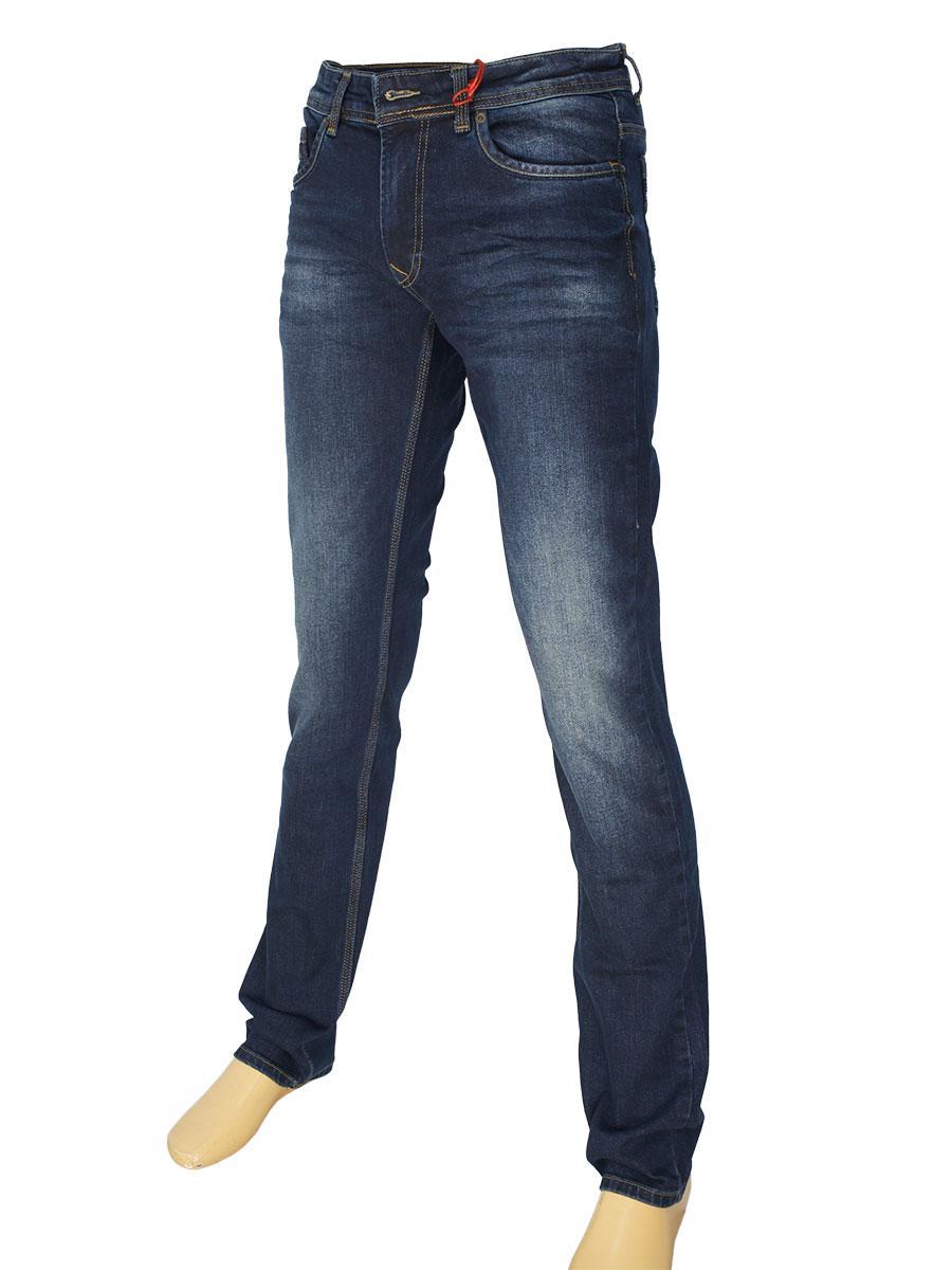 d4f2d5614c5 Стильные мужские джинсы X-Foot 261-2322 темно-синего цвета для ...