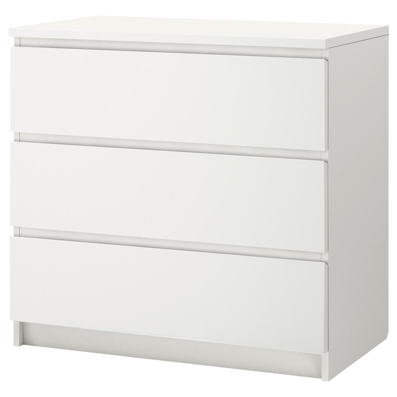 МАЛЬМ Комод с 3 ящиками, белый, 402.145.51