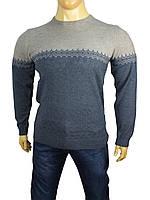 Мужской классический свитер Yamak 24082 т.син.