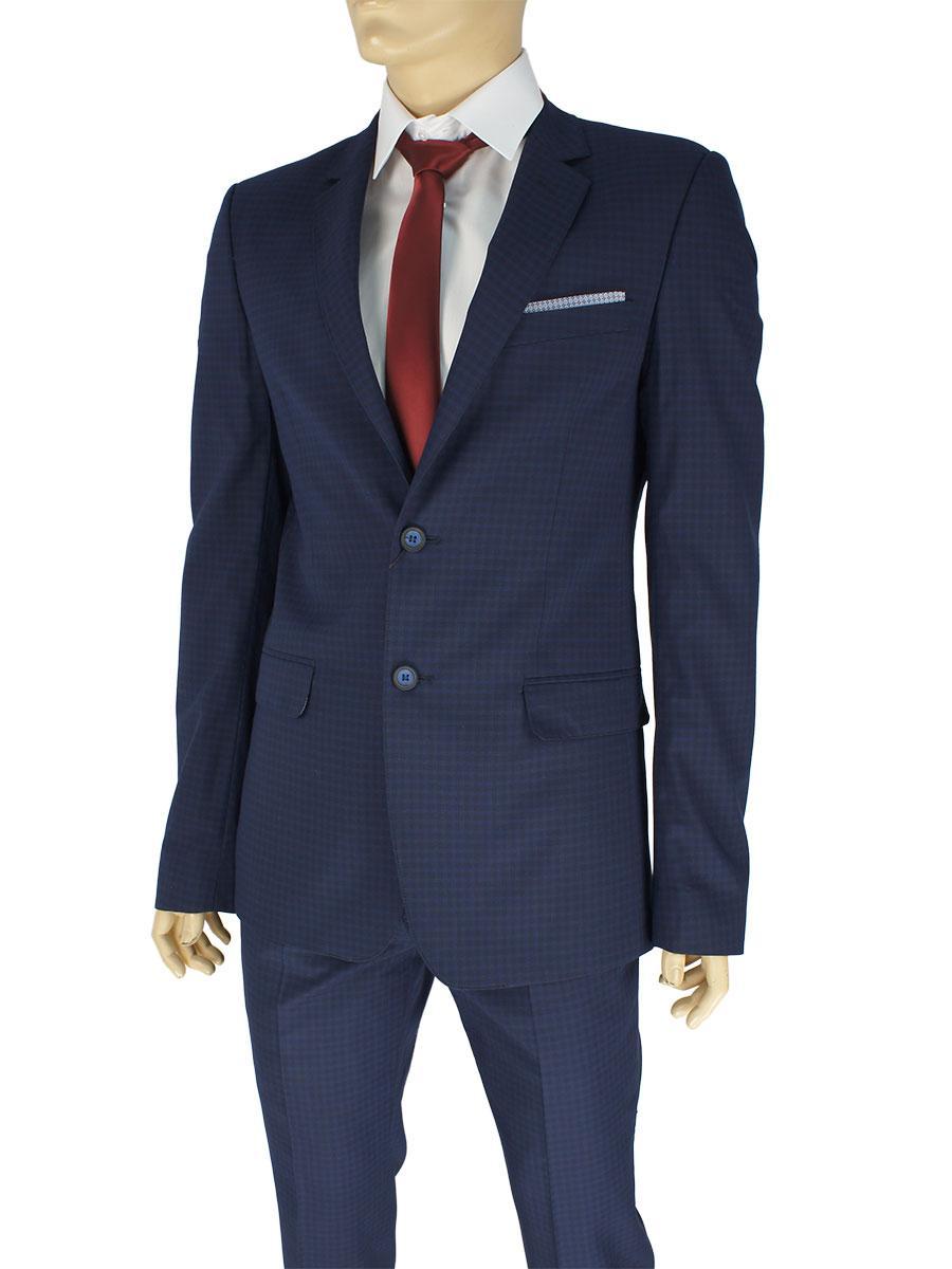 Мужской классический костюм Legenda Class 405#2/5 темно-синего цвета