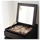 МАЛЬМ Комод с 6 ящиками, черно-коричневый, зеркало, 601.279.73, фото 5