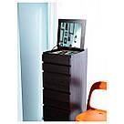 МАЛЬМ Комод с 6 ящиками, черно-коричневый, зеркало, 601.279.73, фото 6