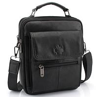 """Мужская сумка барсетка """"Everyday Black"""" из натуральной кожи"""