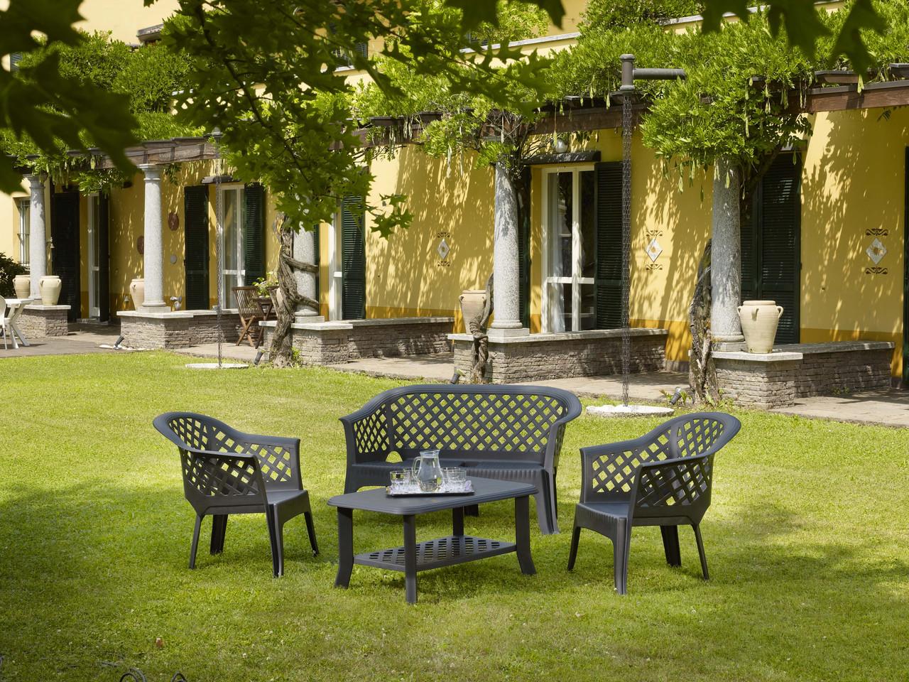 Комплект садовый Veranda duo антрацит (кресло - 2 шт, стол - 1 шт)
