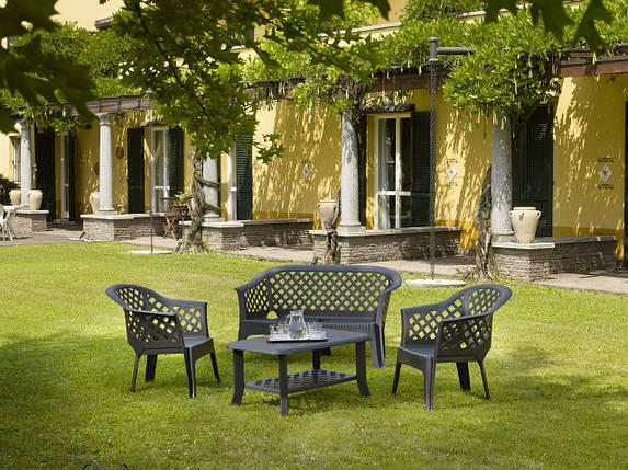 Комплект садовый Veranda duo антрацит (кресло - 2 шт, стол - 1 шт), фото 2