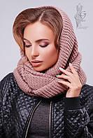 Вязаный шарф Снуд-13 из смесовой пряжи шерсть-акрил