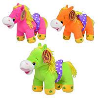 Лошадь MP 0644   3 цвета, звук, 23см
