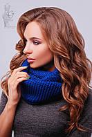 Вязаный шарф Снуд-15 из смесовой пряжи шерсть-акрил