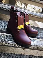 Ботинки женские зимние с язычком на низком ходу кожа натуральная мягкая качественные, женская обувь производст