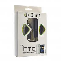 ЗАРЯДКА СЕТЬ/АВТО HTC + USB MICRO (3в1)