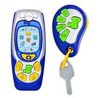 Телефон 25172   с брелоком, муз, свет, на бат-ке, в кор-ке, 24,5-8-5,5см