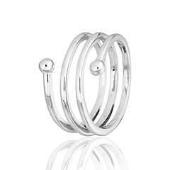 Кольца серебряные без камней