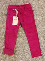 Вельветовые утепленные штаны для девочки на флисе 10-12 лет