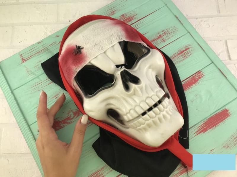 Маска маскарадная череп скелет