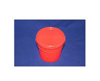 Ведро пластиковое пищевое красное 1,1л плотное