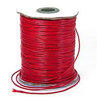 Шнур Вощеный Полиэстер, подходит для плетения браслетов, Цвет: Красный, Размер: Толщина 1.2мм, около 165м/катушка (УТ100009678)