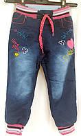Детские джинсы на махровой подкладке на девочек 1 год