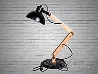 Стильная настольная лампа с деревянным каркасом T2024