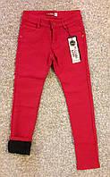 Котоновые брюки для девочки на флисе 134-158