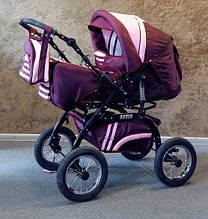 Универсальная коляска-трансформер Trans baby Rover (2/46) бордовый+розовый