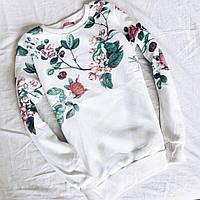 Свитшот женский теплый на флисе (5 цветов)