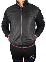 Спортивний чоловічий костюм реплика Tommy Hilfiger 15027 Black чорного  кольору a3e1decf9675f