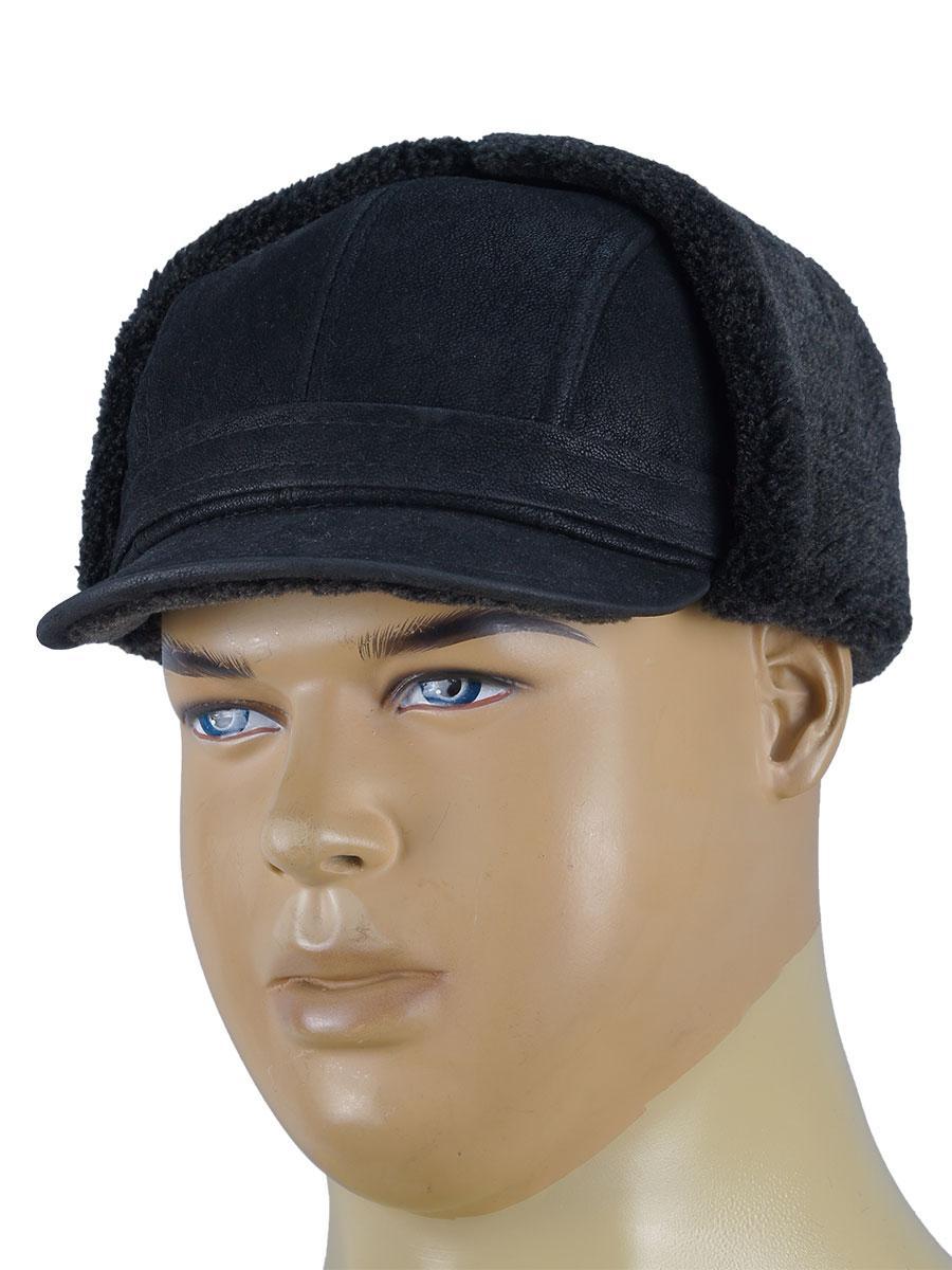 Чоловіча утеплена кепка Холмс Magneet MZ-1 в чорному кольорі