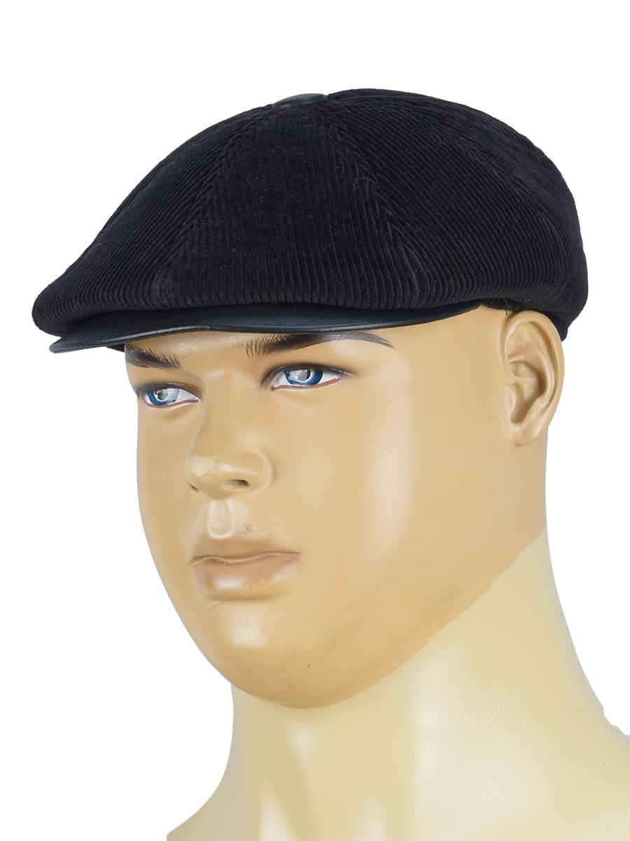 Вельветова чоловіча кепка Magneet 0234 чорного кольору