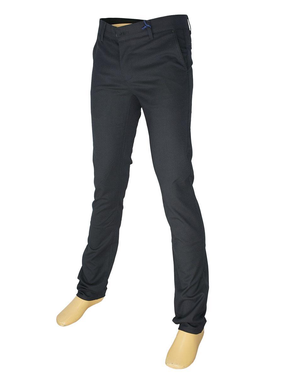 Чорні чоловічі брючні джинси X-Foot 170-3273 в дрібну клітку - Магазин  великих 7fc4eb562fdb5