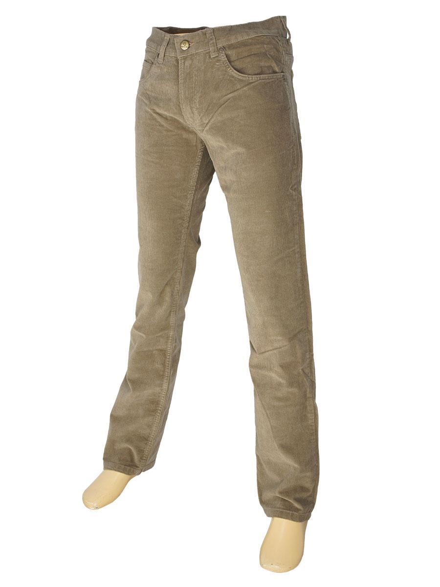 Чоловічі вельветові джинси CNC-1383 світло-коричневого кольору