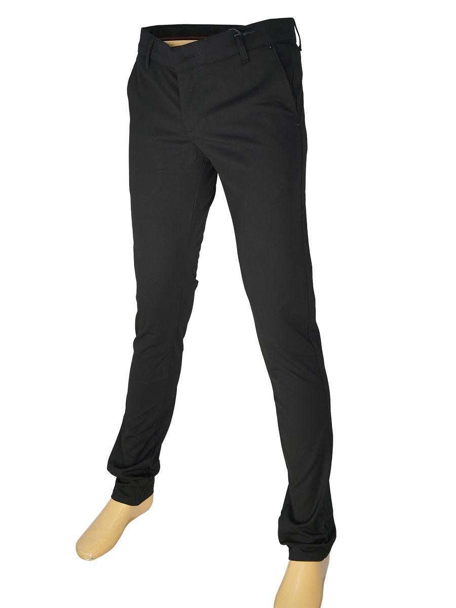 Чоловічі джинси X-Foot 171-3282 чорного кольору