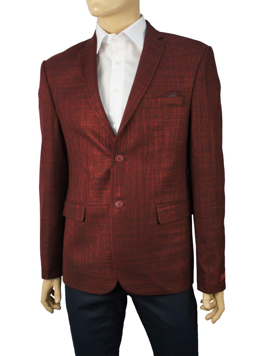 Стильний чоловічий піджак Daniel Perry LARDINES в бордовому кольорі