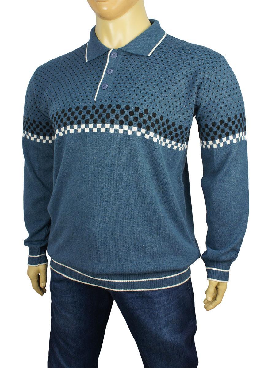 Стільній чоловічий светр Dekons 1399 Indigo великий розмір