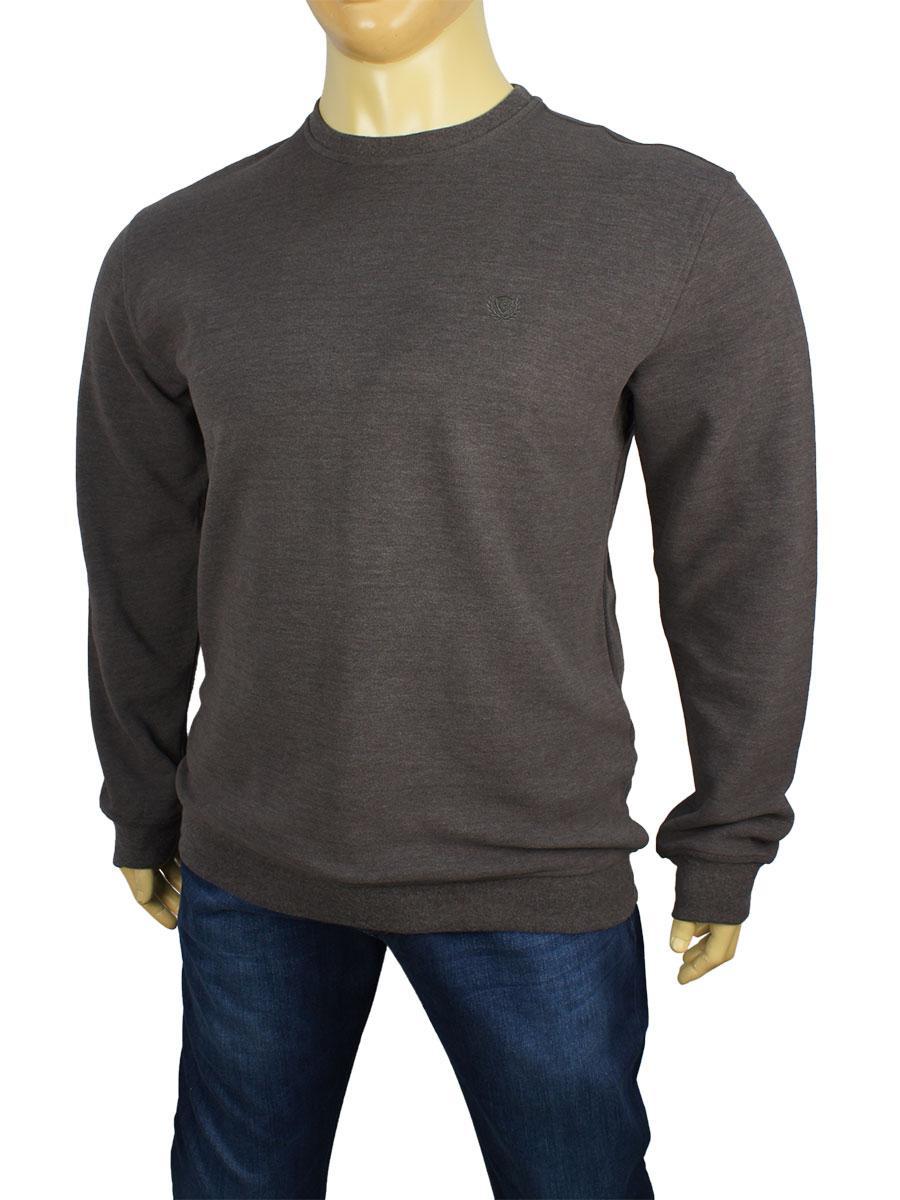 Чоловічий светр Better Life 529 В сірий великого розміру