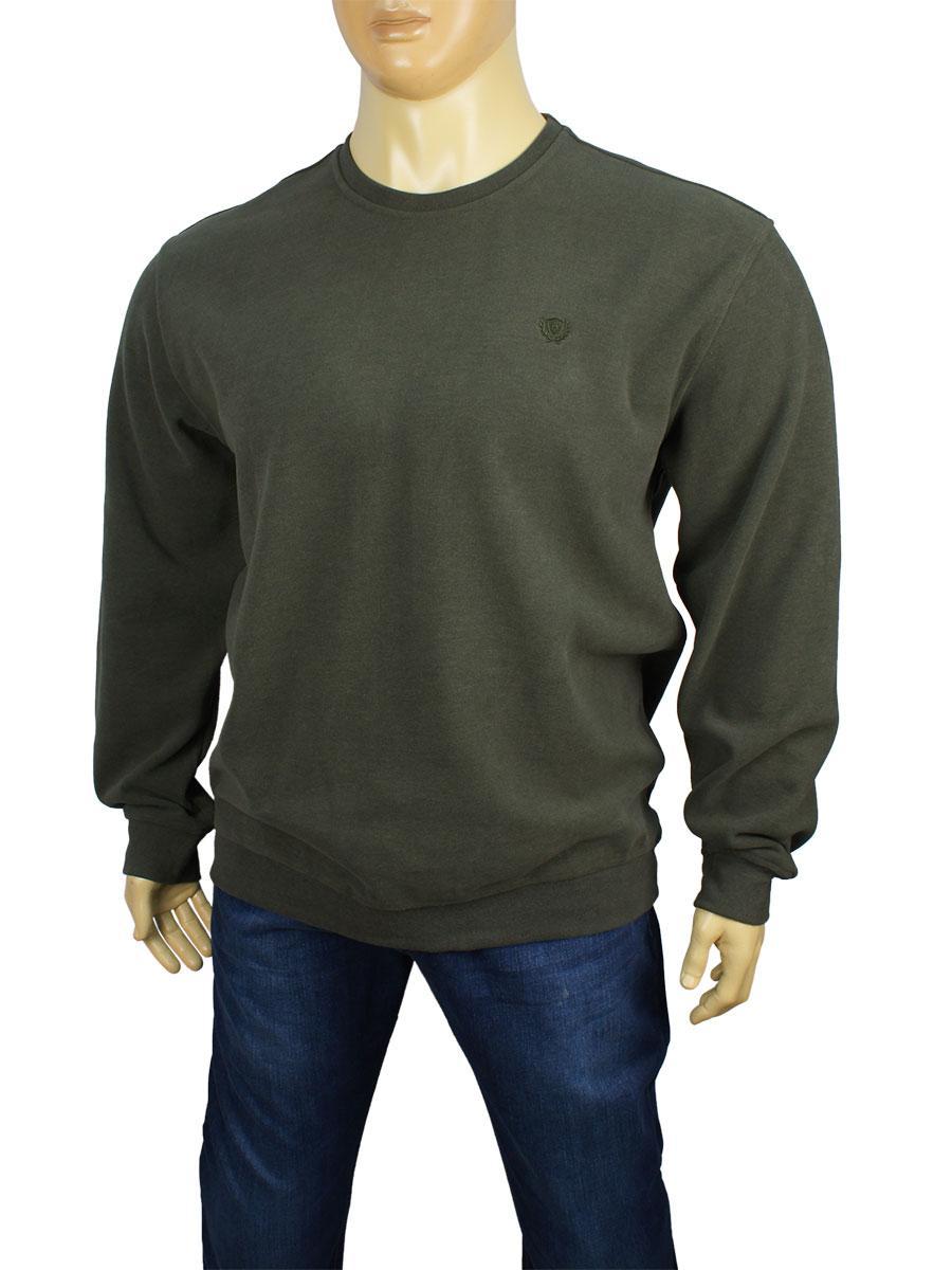 Чоловічий светр Better Life 529 В хакі великого розміру