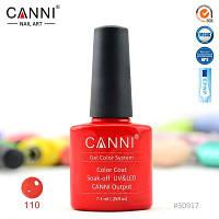 Гель лак Canni 110 красный с шиммером