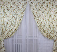 Комплект штор для спальни из льна