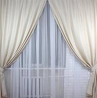 Готовые шторы из льна