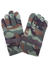 Перчатки зимние мужские флисовые камуфляжные