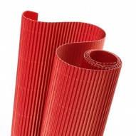 Картон гофрированный 270g/m2  50х70 см. красный