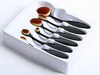 Овальные кисти щетки для макияжа. Набор из 6 кистей Masterclass Oval.