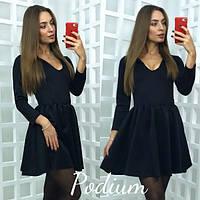 Платье женское Ткань -дайвинг  Цвета - бордо чёрный серый фото реал лкар № 86255
