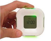 Четырехсторонние электронные часы, многофункциональные цифровые часы с LED-подсветкой